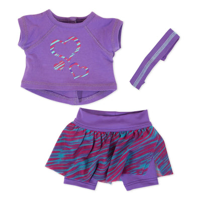 sporty skort outfit for 18 inch dolls