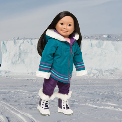 Snow suit 18 inch dolls, snow pants, winter boots