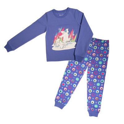 pajamas for girls with polar bear design