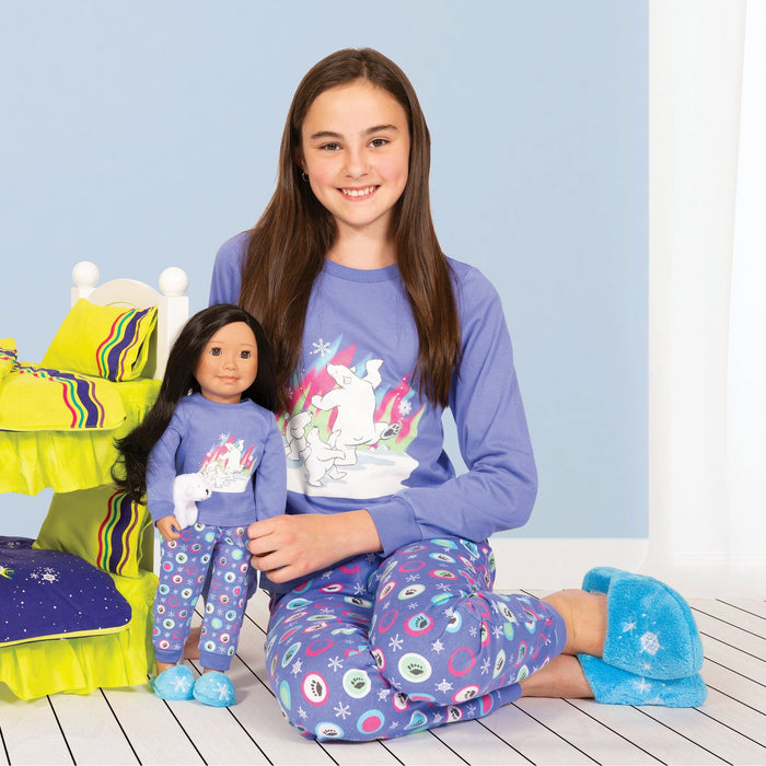 Matching doll and girl pajamas