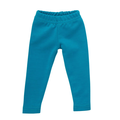 Thick teal knit leggings fits all 18 inch dolls.
