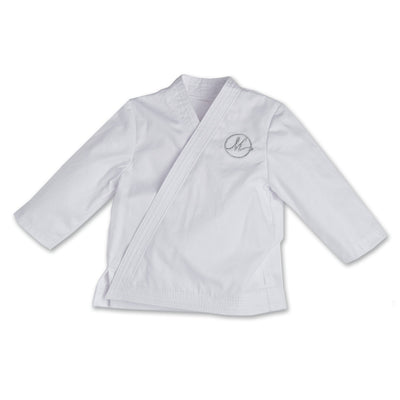 Karate Kicks gi white jacket fits all 18 inch dolls.