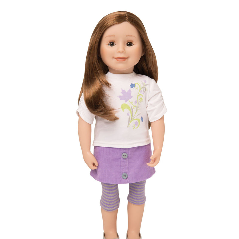 KMF29 Maplelea Friend 18 inch doll with long caramel hair, light skin, brown eyes