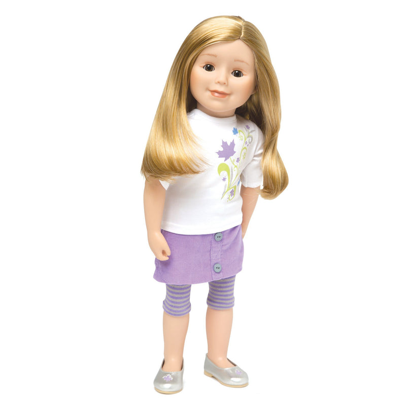 KMF21 Maplelea Friend 18 inch doll with long blonde hair, light skin, brown eyes