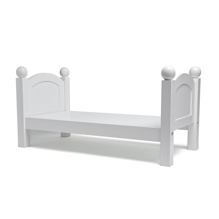 ... And Bedding White Wooden Doll Bed For 18 Inch Dolls. Part Of Mapleleau0027s  Doll Furniture Collection.