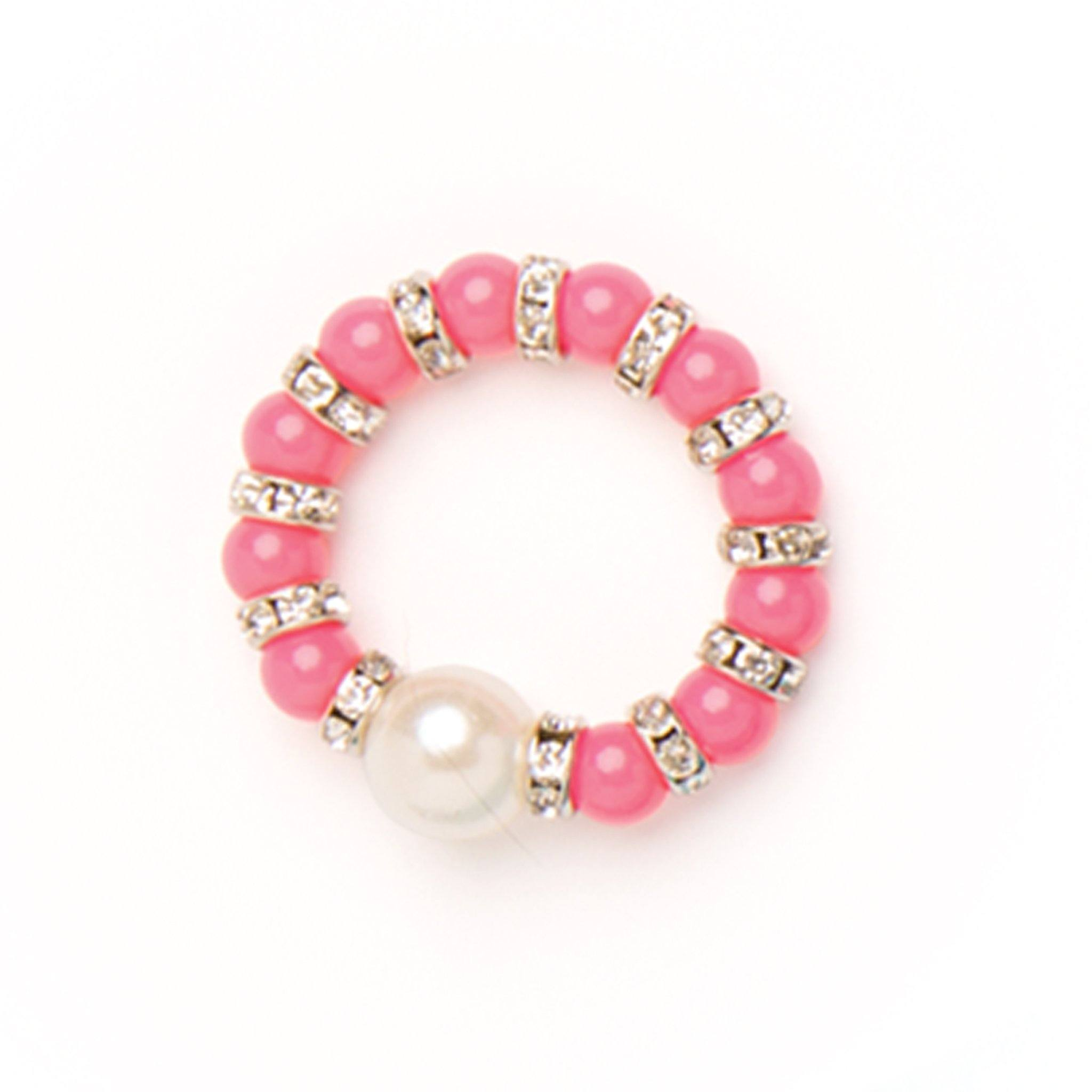 My cup of tea beaded pink bracelet fits all 18 inch dolls.
