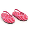 Nightingale Nightwear dark and light pink striped soft slippers fits all 18 inch dolls.