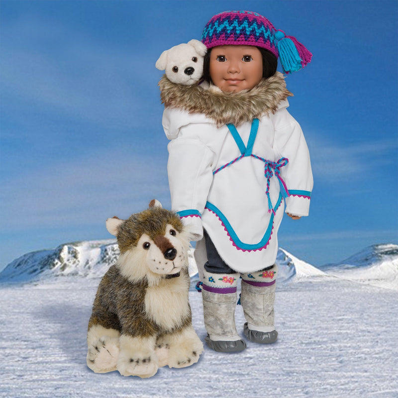 Nukilik and Nanuq plush Inuit dogs for all 18 inch dolls.