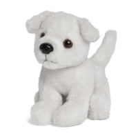 Nanuq white plush puppy comes with personalized collar. Great plush pet for all 18 inch dolls.