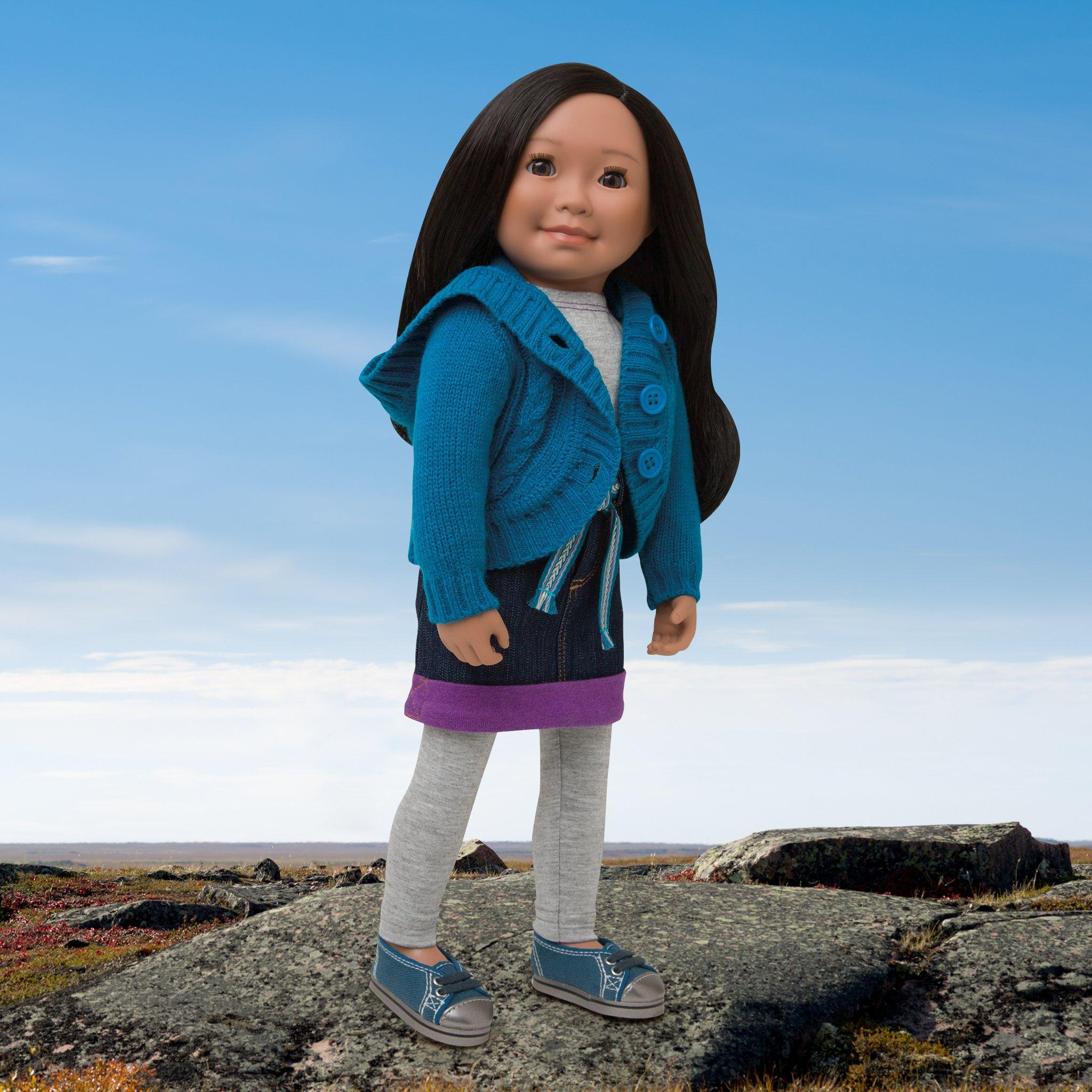 Fits all 18 inch dolls but designed for Canada's Maplelea Girl from Nunavut.