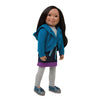 Saila, Canada's Maplelea Girl doll of Inuit heritage wearing the 6 piece Nunavut Now outfit.