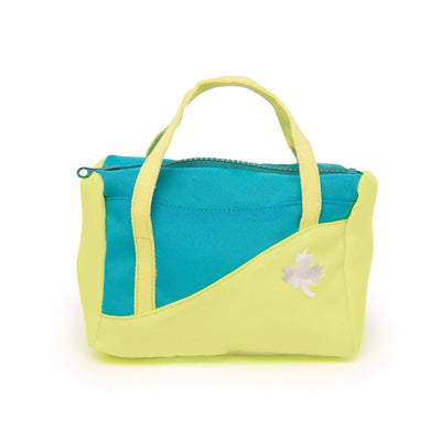 Personal Best bright green and teal gym bag for all 18 inch dolls.