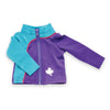 Personal Best purple and blue track jacket fits all 18 inch dolls.