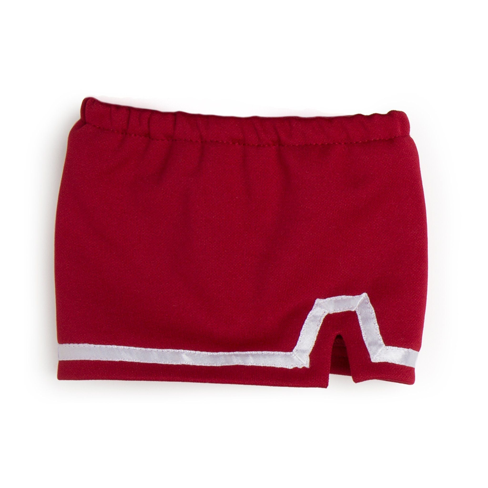 Pom pom power red and white skort fits all 18 inch dolls.