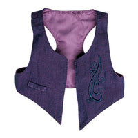 Positively Peaceful casual outfit purple embroidered vest fits all 18 inch dolls.