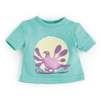 Ptarmigans Rock light green t-shirt with ptarmigan graphic  fits all 18 inch dolls.