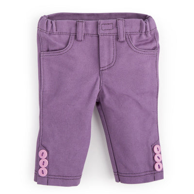 Ptarmigans Rock casual outfit purple capris with button detail fits all 18 inch dolls.