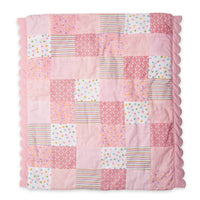 Scallop edge comforter quilt for 18 inch doll bed.