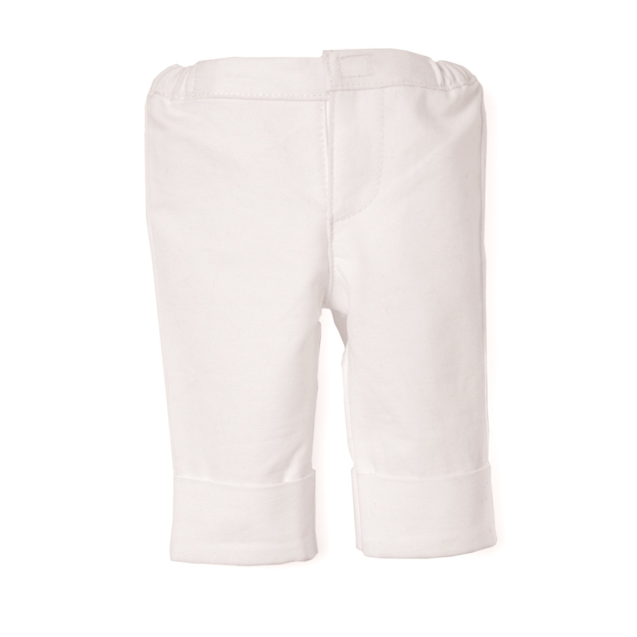 Rose of hearts white capri pants fits all 18 inch dolls.