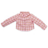 Ready to Ride Western Riding outfit pink plaid long-sleeve top fits all 18 inch dolls.