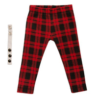 Rockin' Couture black and red plaid pants and  button wrist band fits all 18 inch dolls.