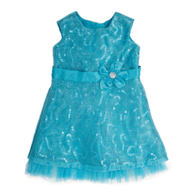 Royal Fair teal sparkly lace and organza dress fits all 18 inch dolls