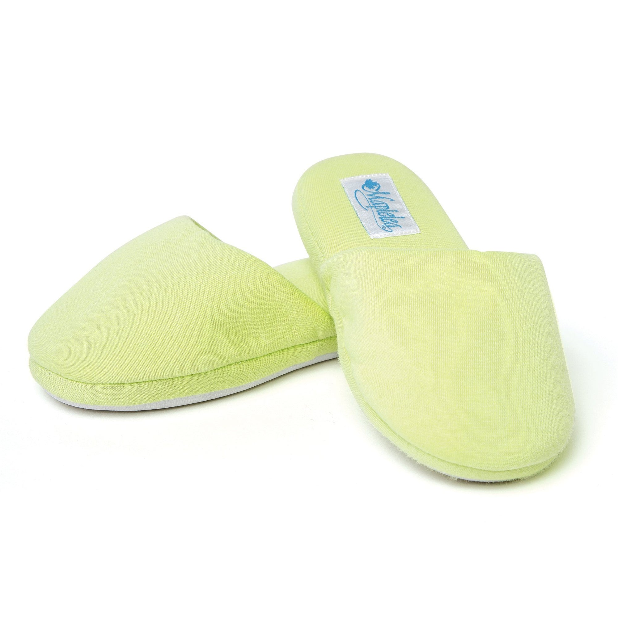 Second Slippers fuzzy plush green slippers for girls.