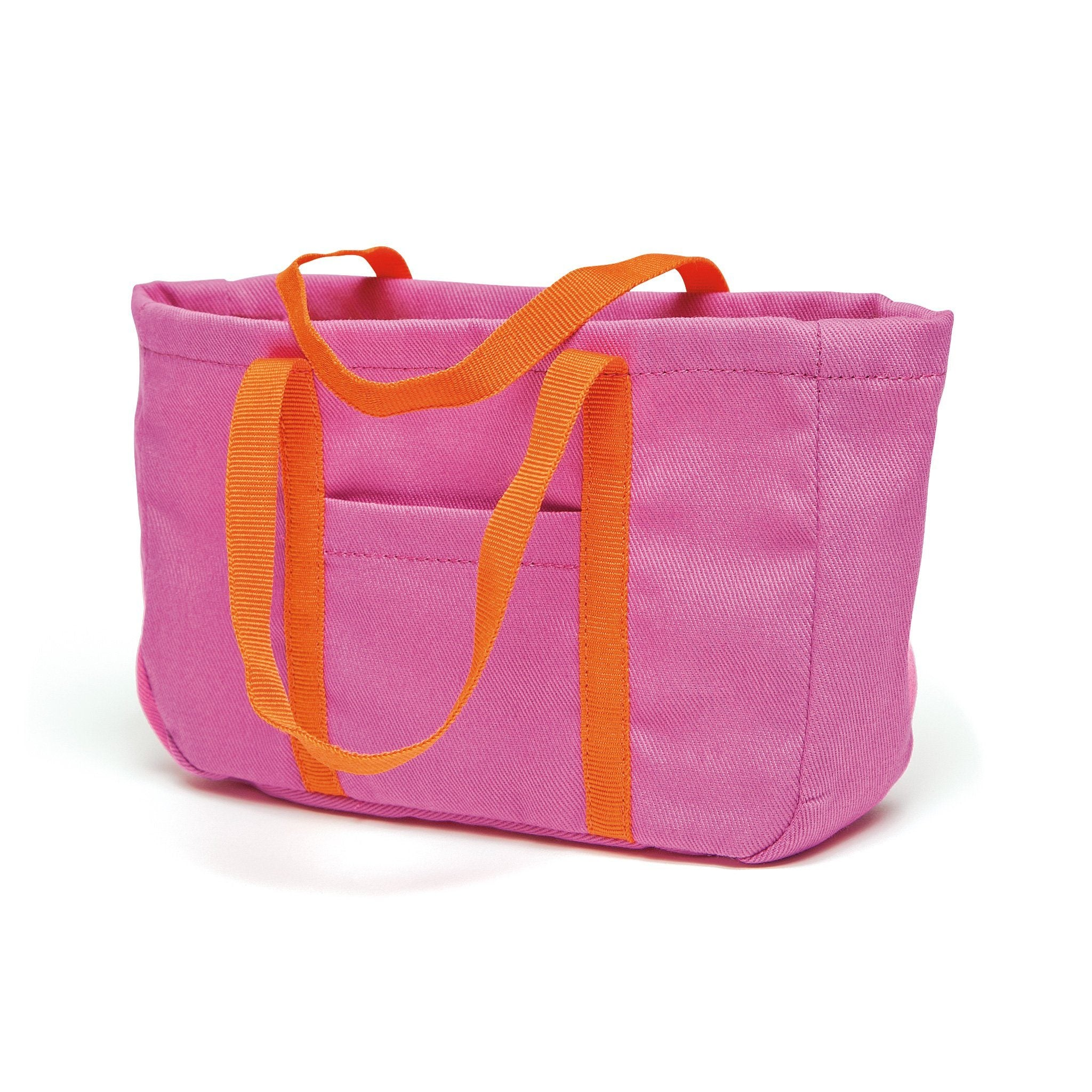 Shoreline Sun pink beach bag fits all 18 inch dolls.