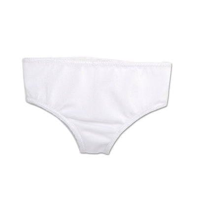Special Occasion white undies fits all 18 inch dolls.