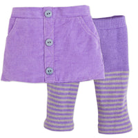 Maplelea Friend 18 inch doll starter outfit purple corduroy skirt and purple and grey striped tights fits all 18 inch dolls.