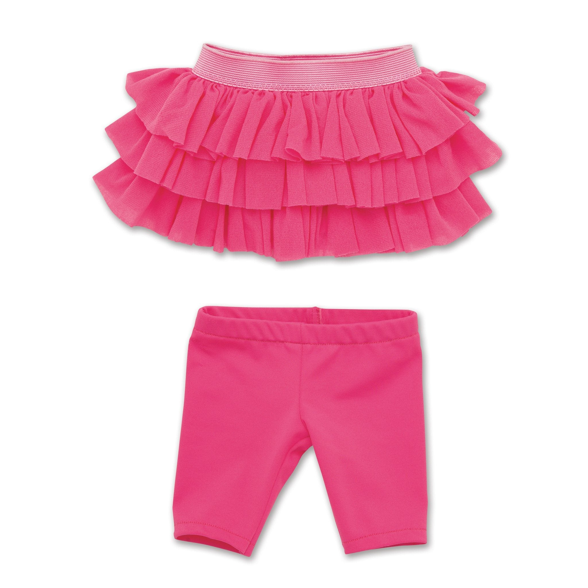 Tutu Cute pink ruffled skirt, and pink knee-length tights all 18 inch dolls.
