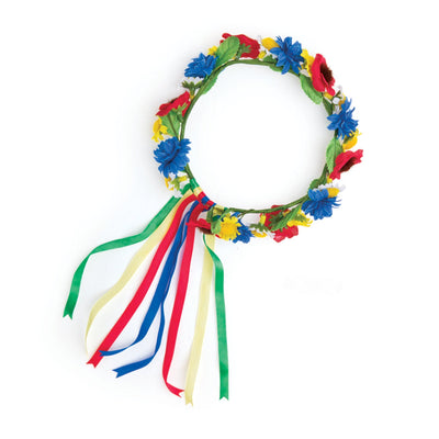 Ukrainian Dance outfit traditional floral wreath fits all 18 inch dolls.