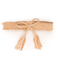 Very Prairie tan wrap belt fits all 18 inch dolls.