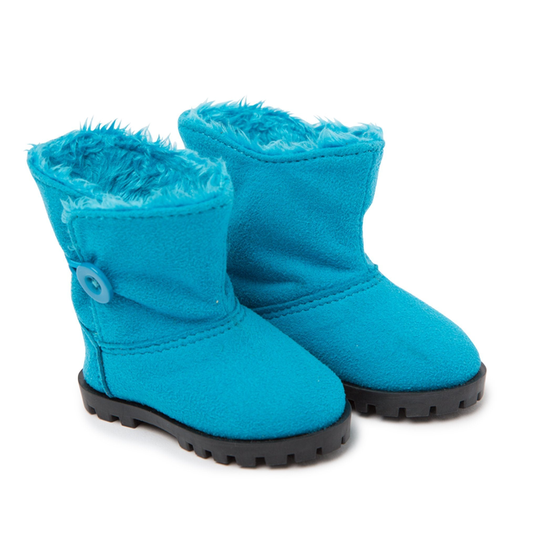 Weekend at Whistler blue fuzzy winter boots fit all 18 inch dolls.
