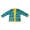 Weekend at Whistler funky snowflake patterned teal jacket with yellow trim fit all 18 inch dolls.