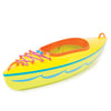 Yellow, green, orange and blue kayak fits all 18 inch dolls.