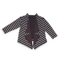 Art of the city black and white striped sweater with red polka dot interior fits all 18 inch dolls