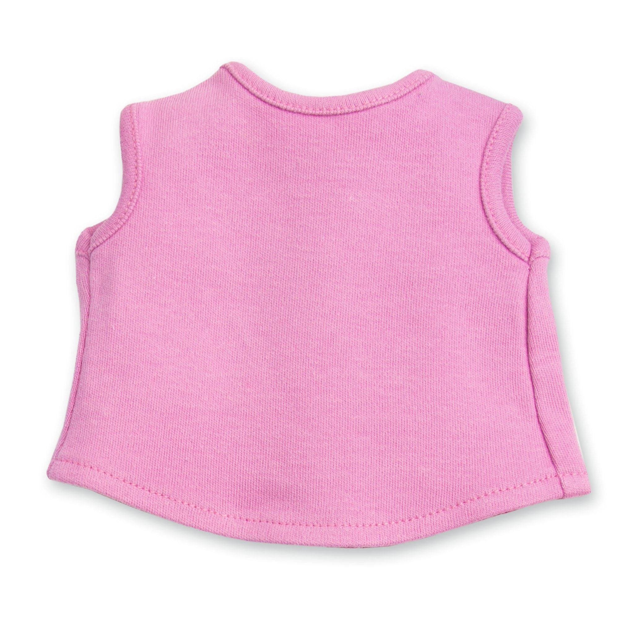 Awesome Blossom 4 piece outfit pink sleeveless shirt fits all 18 inch dolls.