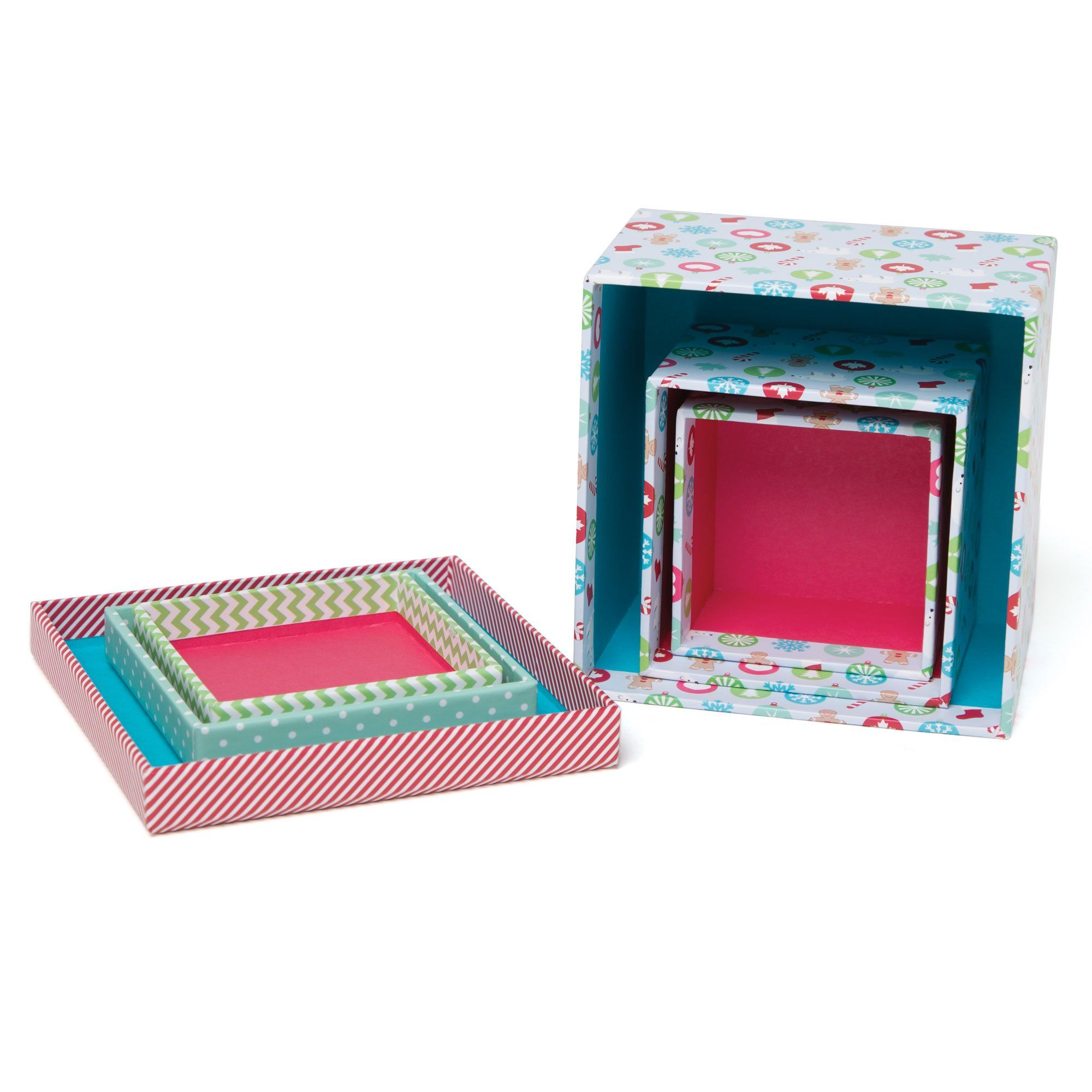 Christmas Traditions set of 3 Christmas gift boxes for all 18 inch dolls