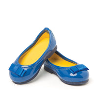 Blue ballet flats with bow fits all 18 inch dolls
