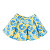 blue and yellow floral skirt fits all 18 inch dolls