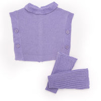 Casual purple tunic sweater and leg warmers fits all 18 inch dolls.