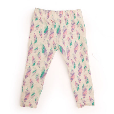 Colourful feather watercolour pattern tights, fits all 18 inch dolls.