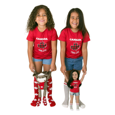 Canuck Kids Sock Set for Kids and Dolls