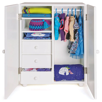 Deluxe wardrobe for all 18 inch doll clothes and accessories