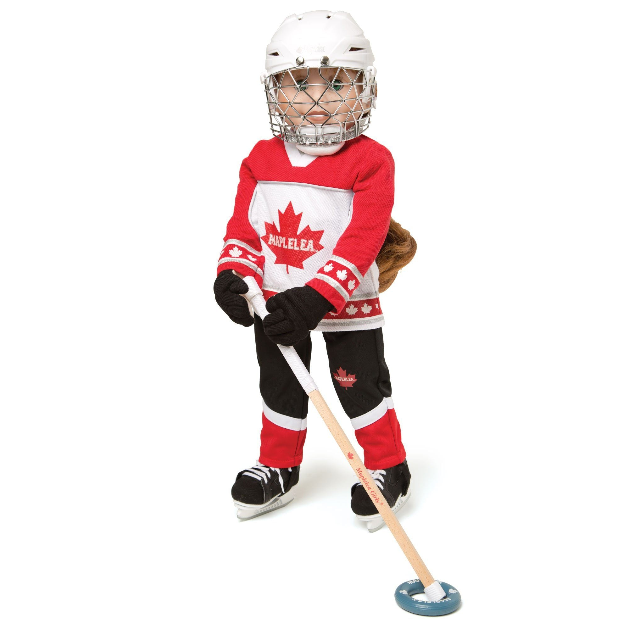 Hockey Skates fit all 18 inch dolls.