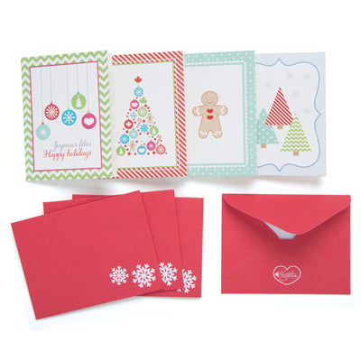 Christmas Traditions set of 4 Christmas cards with envelopes for all 18 inch dolls.