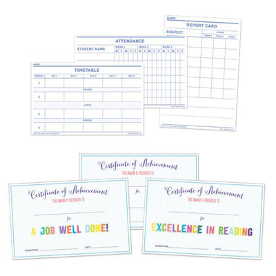 School Set for 18 inch dolls includes lots of printed worksheets and activities