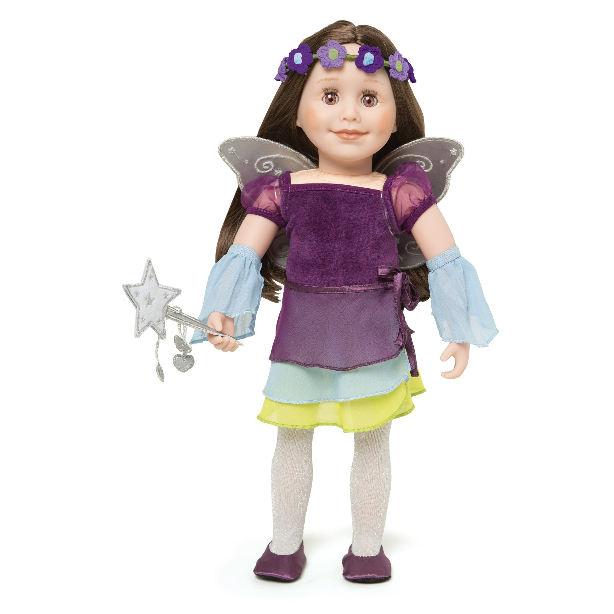 "Your 18"" doll can be a fairy, princess, dancer or skater with this Flight of Fantasy costume."