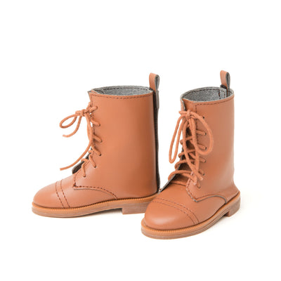 Florabundance tan lace-up boots fits all 18 inch dolls.